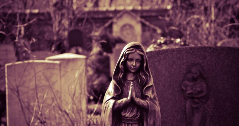祈り、マリア像