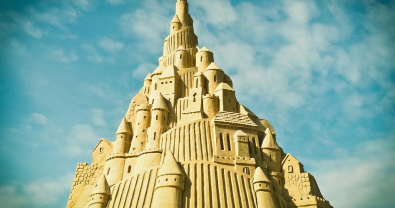 砂の城、空