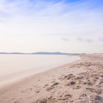 海、砂浜、空