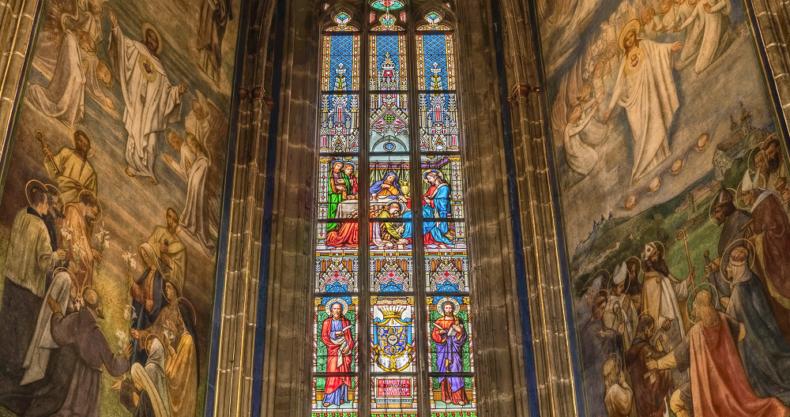教会、ステンドグラス