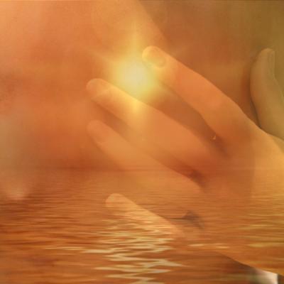 身体、海、手、光