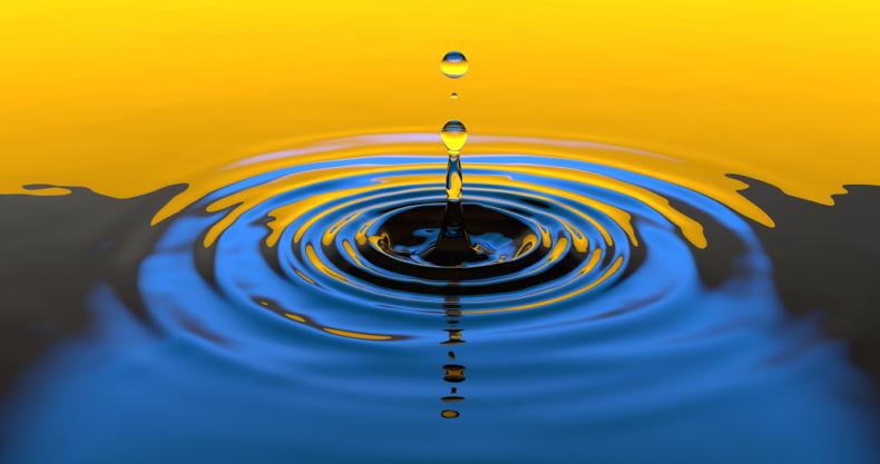 水滴、水、波紋