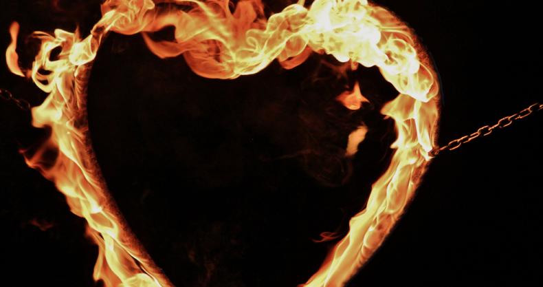 炎、ハート