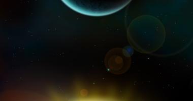 太陽、月、地球、宇宙