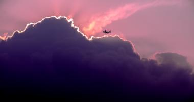 夕焼け、ピンク、空